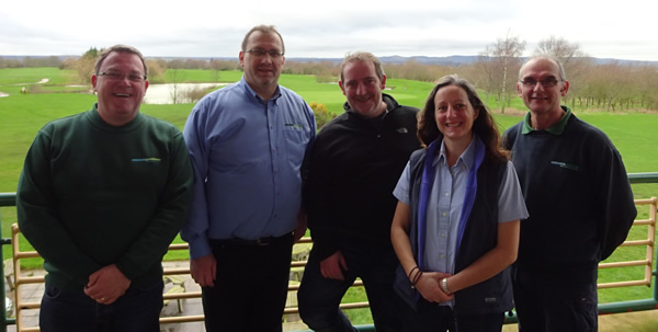 L to R: Mark, John, Dave, Kate and Ian